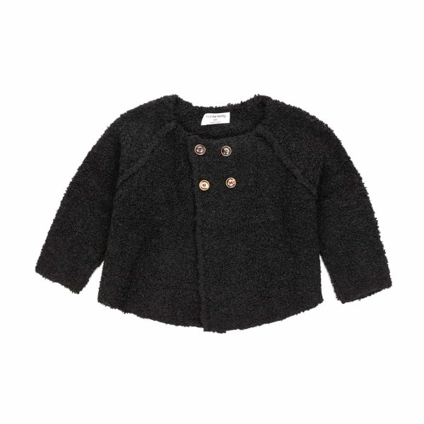 One More In The Family - CARDIGAN NERO BIMBA