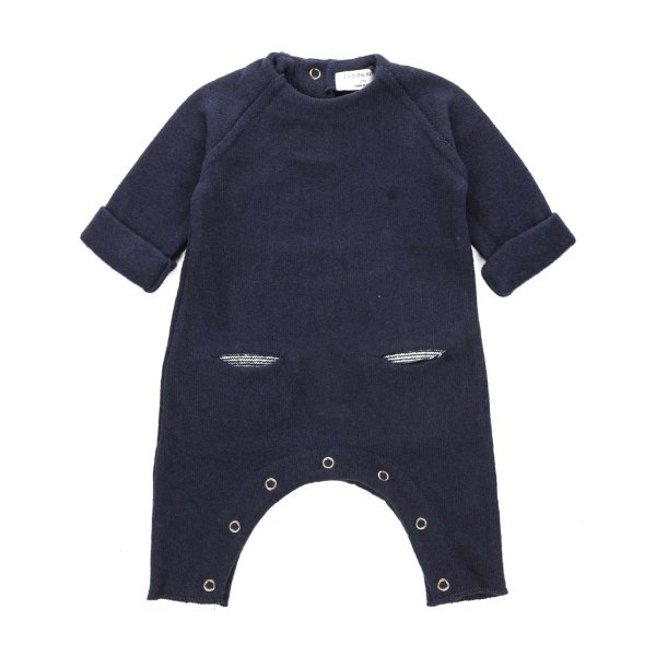 One More In The Family - BOY BLUE ROMPERS