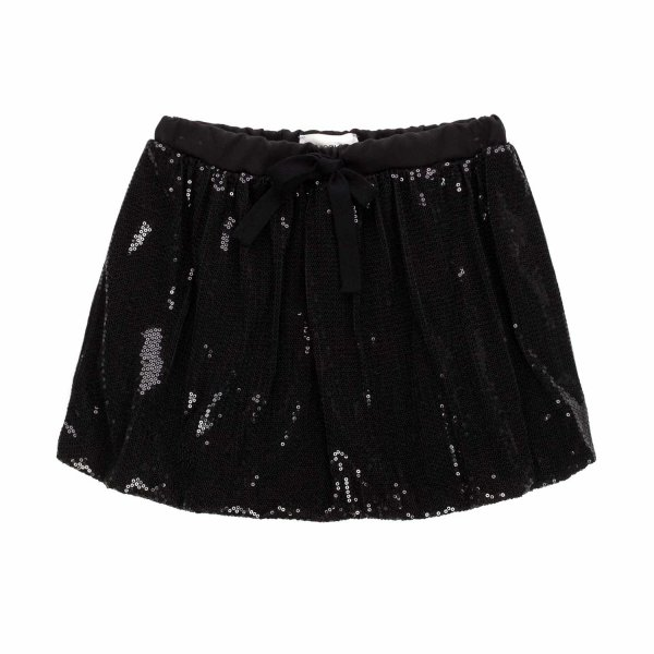 Vicolo - BLACK SEQUIN SKIRT FOR GIRLS