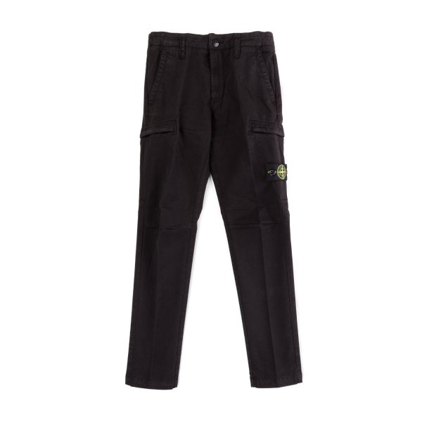 Stone Island - BLACK TROUSERS FOR BOYS