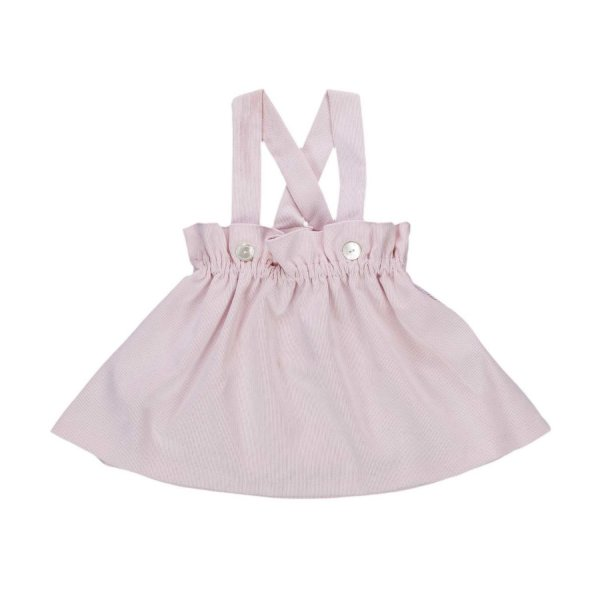 La Stupenderia - PINK SUSPENDER SKIRT FOR BABY GIRL