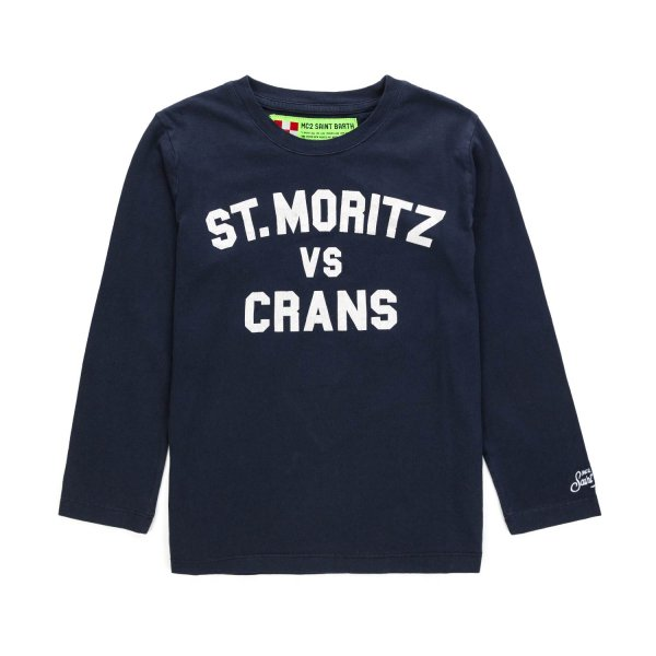 Mc2 Saint Barth - BOY AND TEEN BLUE T-SHIRT