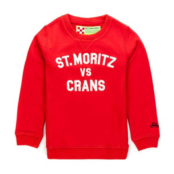 Mc2 Saint Barth - BOYS RED SWEATSHIRT