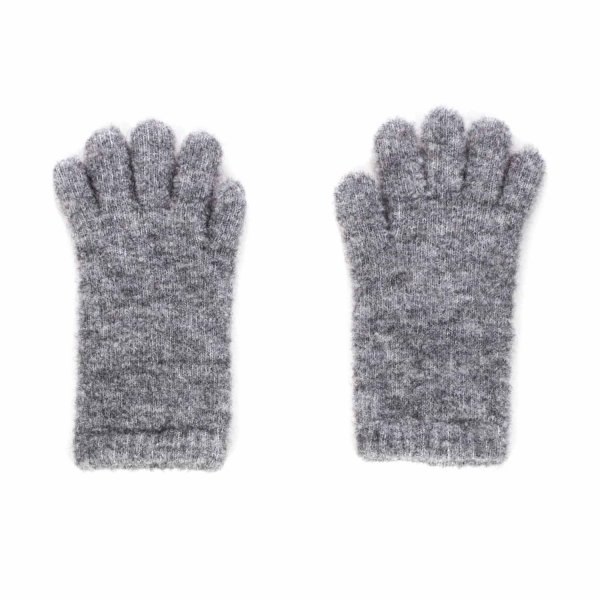 Douuod - GREY WOOL GLOVES FOR GIRLS