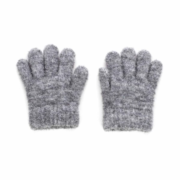Douuod - GREY WOOL GLOVES FOR LITTLE GIRL