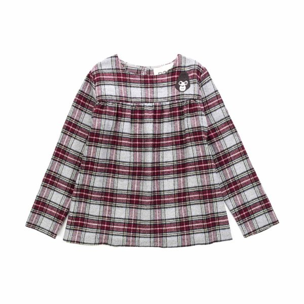 Douuod - CHECK BLOUSE FOR LITTLE GIRLS