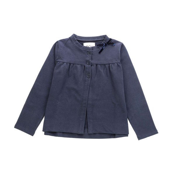 Douuod - BLUE COTTON TOP FOR LITTLE GIRLS
