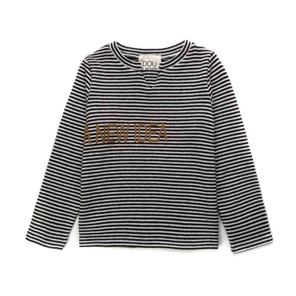 Douuod - STRIPED TOP FOR LITTLE GIRLS