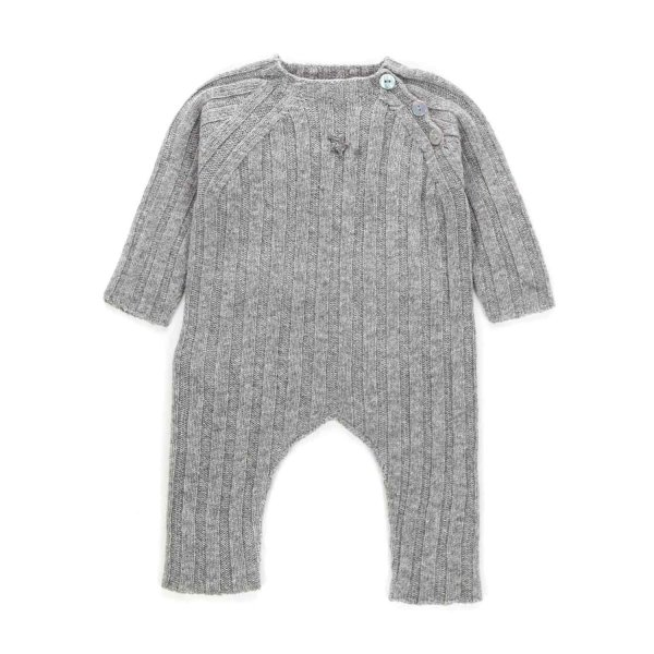 Tocotò Vintage - BABY GREY ROMPERS