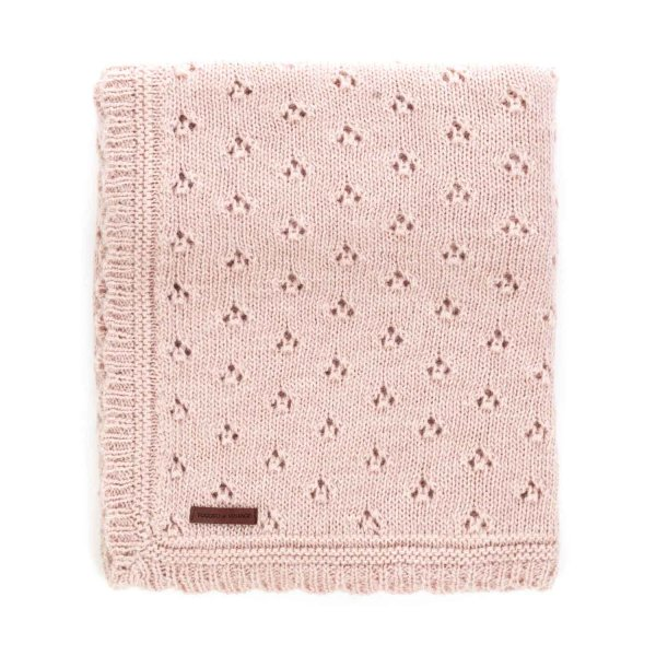 Tocotò Vintage - WOOL BLANKET FOR BABY GIRL