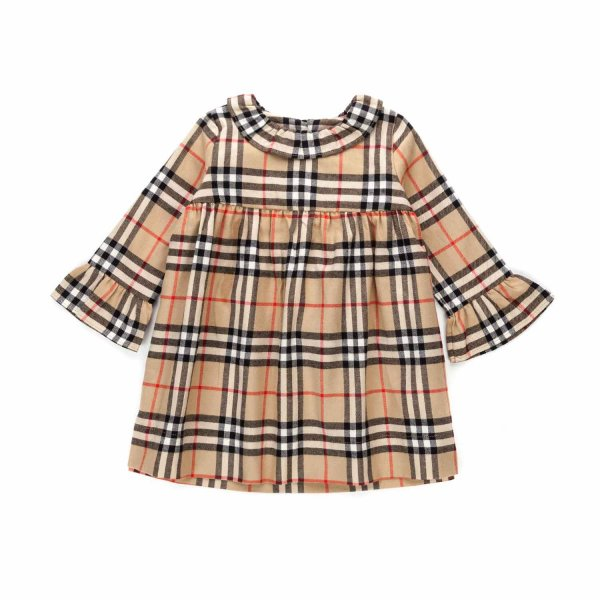 Burberry - CHECK DRESS FOR BABY GIRLS