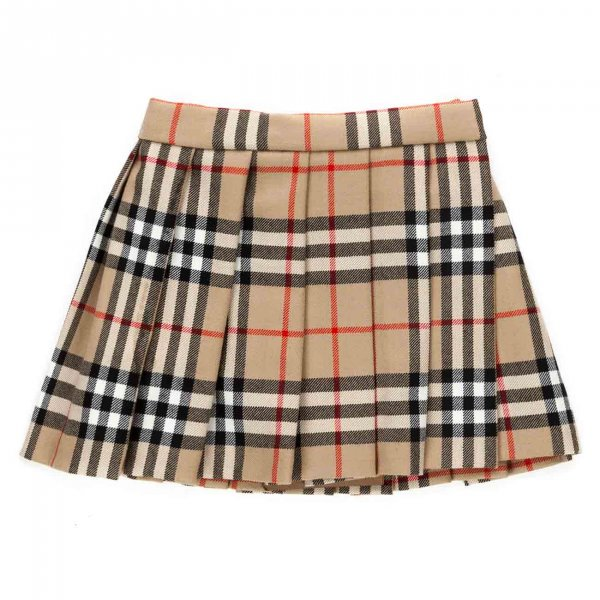 Burberry - PLEATED SKIRT FOR BABY GIRL