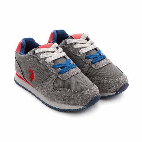 U.s. Polo Assn. - GREY SNEAKERS FOR BOY