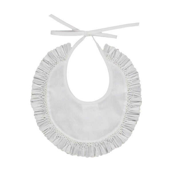 Baroni - UNISEX SILK BIB WITH RUCHES