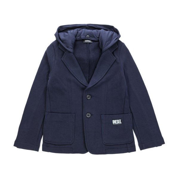 Diesel - BLUE COTTON JACKET FOR BOYS