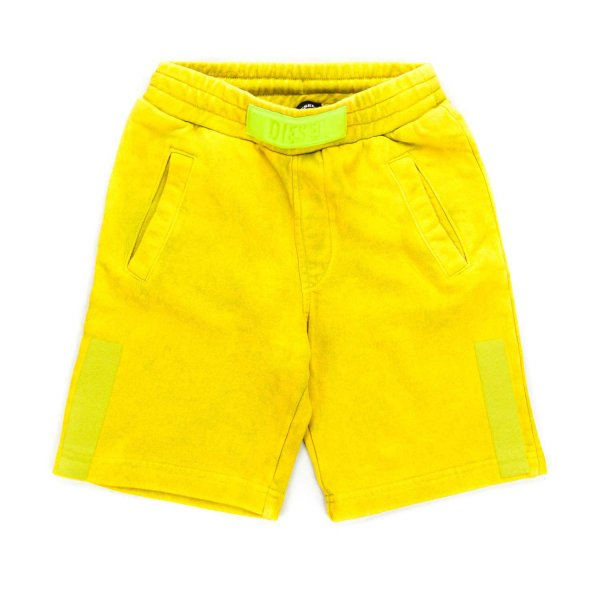 Diesel - YELLOW COTTON SHORTS FOR BOY