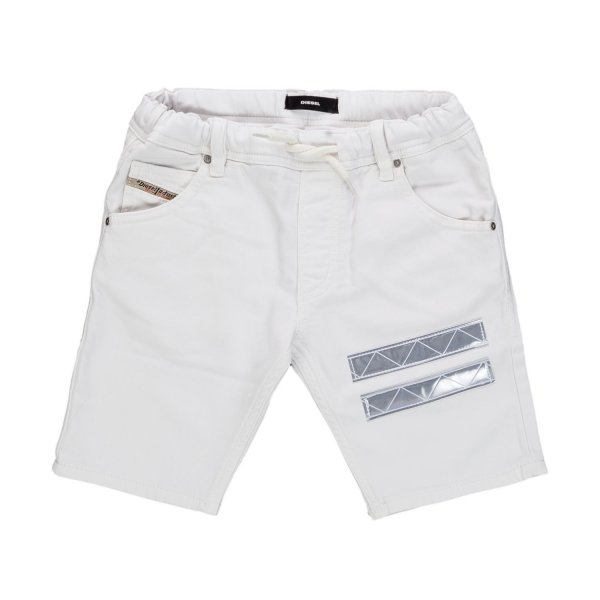 Diesel - BOY AND TEEN WHITE BERMUDA SHORTS
