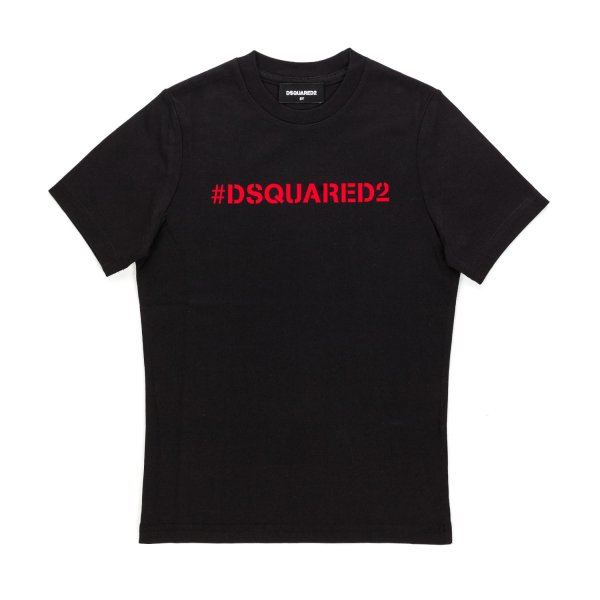 Dsquared2 - UNISEX BLACK T-SHIRT WITH LOGO PRINT