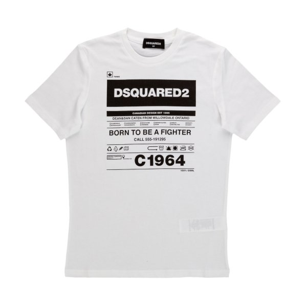 Dsquared2 - WHITE LOGOED T-SHIRT FOR BOY