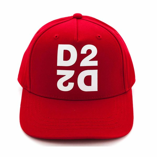 Dsquared2 - RED CAP WITH LOGO FOR BOYS