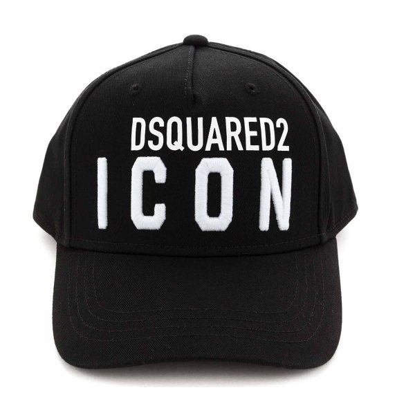 Dsquared2 - BOY BLACK CAP WITH LOGO