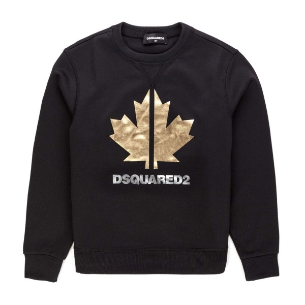 Dsquared2 - BOY BLACK LOGOED SWEATSHIRT