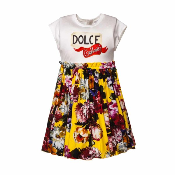 Dolce & Gabbana - FLORAL PRINT DRESS FOR GIRL