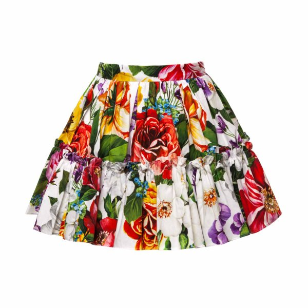 Dolce & Gabbana - GIRL FLOWER PRINT SKIRT