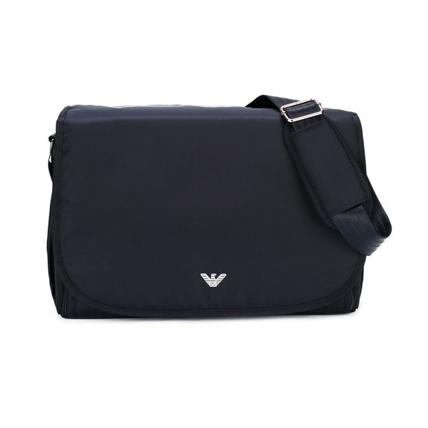 Armani Junior - BLUE LOGO MOMMY BAG