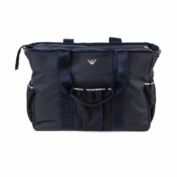 Armani Junior - LOGO BLUE MOMMY BAG