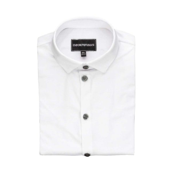 Armani Junior - WHITE SHIRT FOR TEEN AND BOY