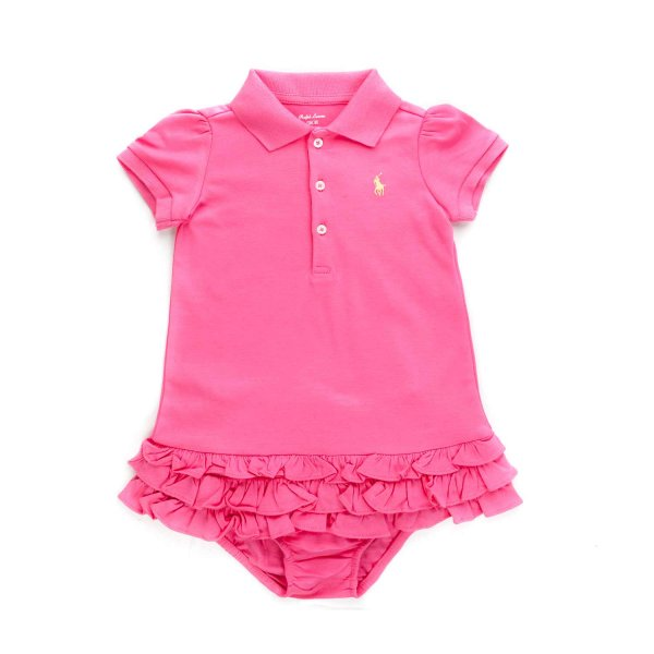 Ralph Lauren - PINK POLO DRESS FOR BABY GIRL