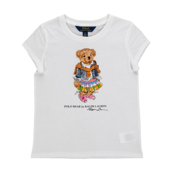 Ralph Lauren - T-SHIRT POLO BEAR BAMBINA