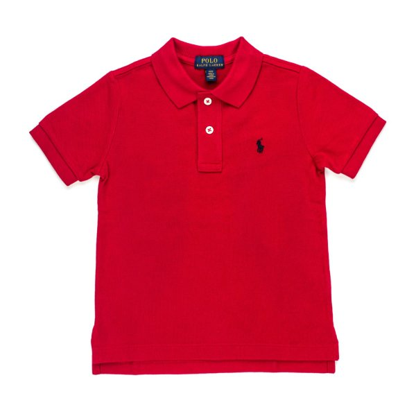 Ralph Lauren - BOYS RED POLO SHIRT WITH LOGO