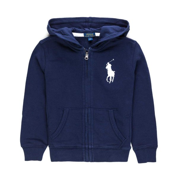 Ralph Lauren - BOY AND TEEN BLUE ZIP UP HOODIE