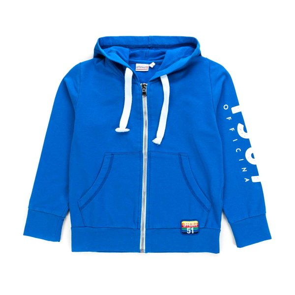 Officina51 - BOY BLUE HOODIE WITH ZIP