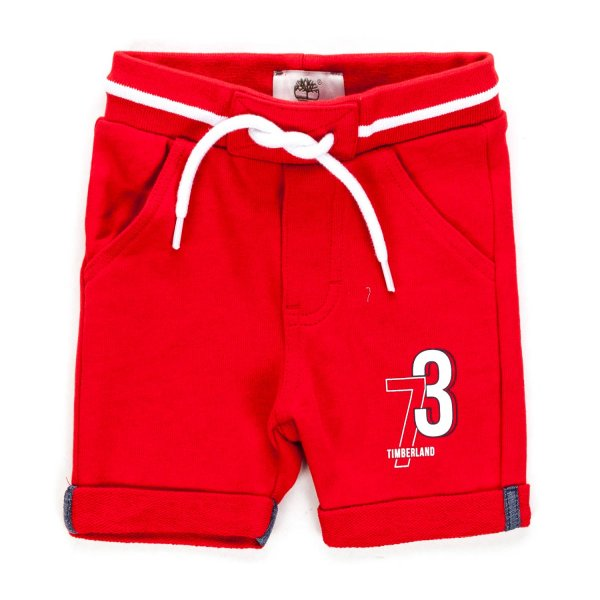 Timberland - BABY BOYS RED COTTON SHORTS