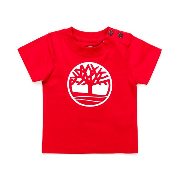 Timberland - RED LOGO T-SHIRT FOR BABY BOY