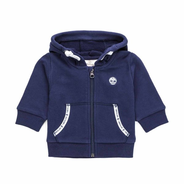 Timberland - BLUE ZIP UP HOODIE FOR BABY BOY