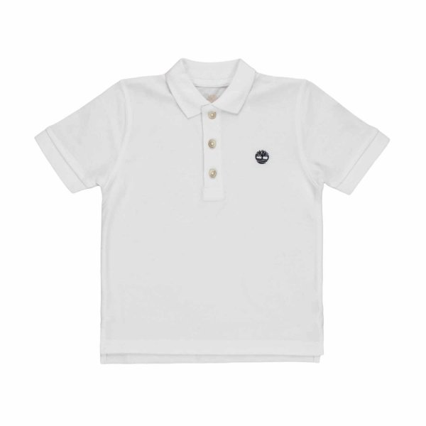 Timberland - BABY WHITE POLO SHIRT WITH LOGO