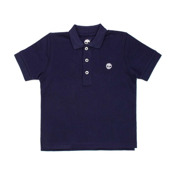 Timberland - BABY BOYS BLUE COTTON POLO SHIRT