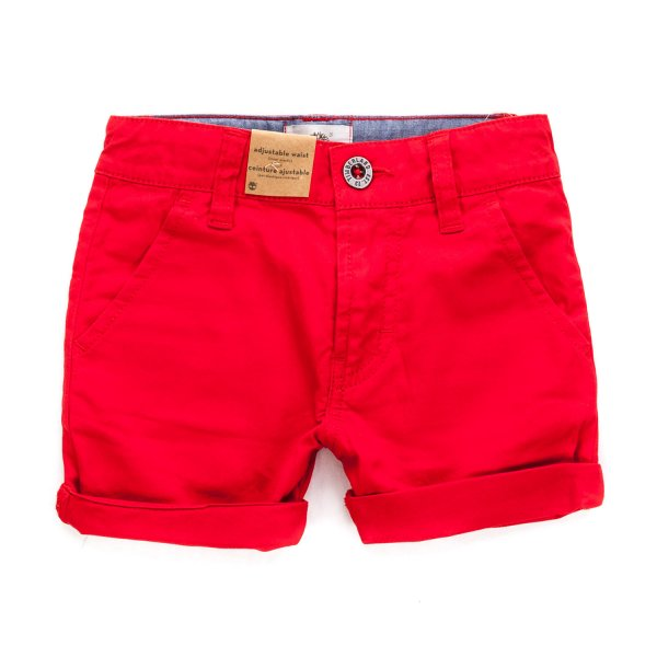 Timberland - BOY RED COTTON SHORTS