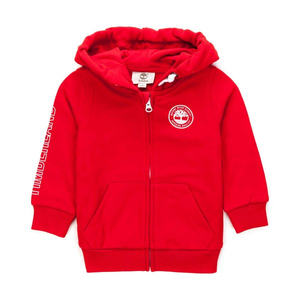 Timberland - RED ZIP HOODIE FOR BOYS