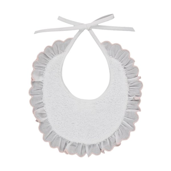 Baroni - RUCHE BIB FOR BABY GIRL