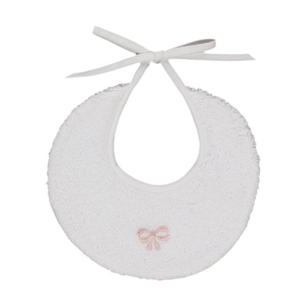 Baroni - PINK BOW BIB FOR BABY GIRLS