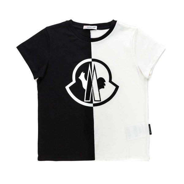 Moncler - TWO-COLOUR LOGO T-SHIRT FOR BOYS