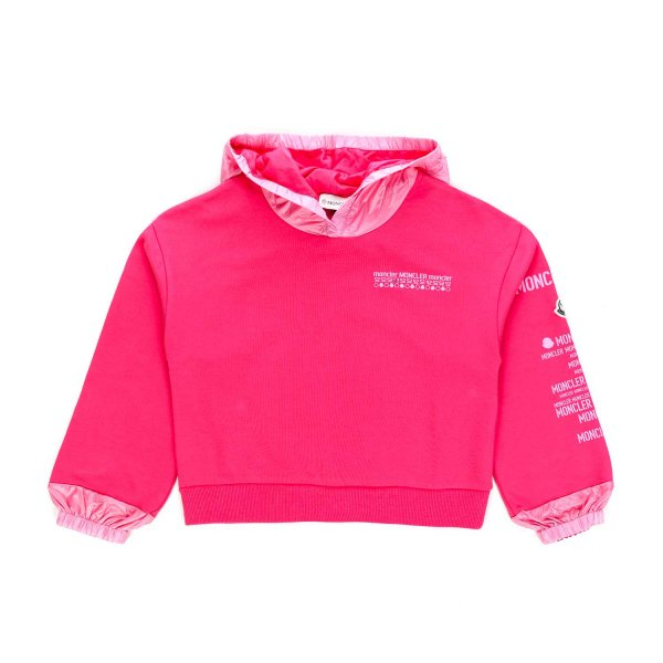 Moncler - FUCHSIA HOODIE FOR GIRL