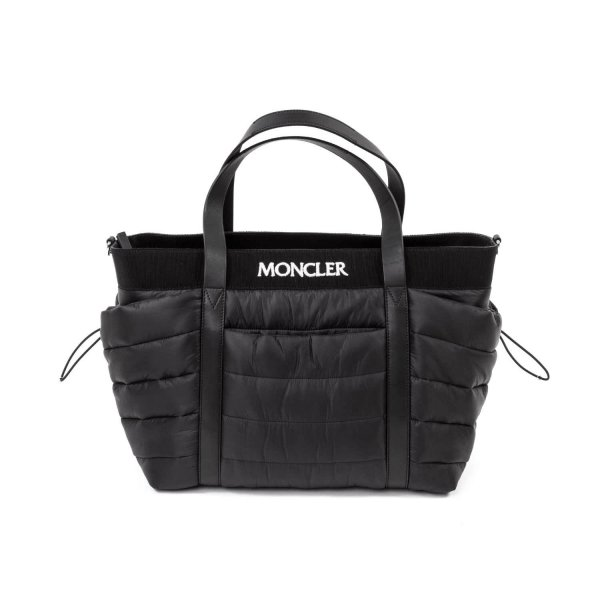 Moncler - BLACK LOGO MOMMY BAG