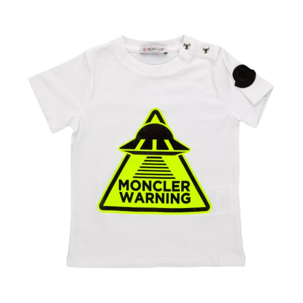 Moncler - LOGO WHITE T-SHIRT FOR BABY BOY