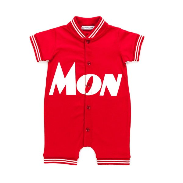 Moncler - COTTON ROMPER FOR BABY BOY